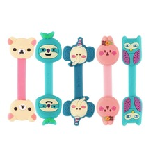Cute Animals Cable Winder Clip Headphone Earphone Winder Earbud Silicone Cable Cord Wrap Organizer Holder for iPhone  Wholesale(China (Mainland))