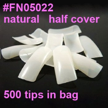 500 halfwell natural french false nail art tips half cover acrylic nails Tips french manicure Dropshipping [Retails] SKU:A0005