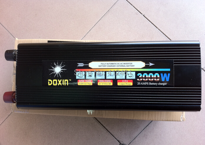 DC12V to AC 220V 230V DOXIN Inverter 3000W 6000W(peak) Power Converter With Charger(China (Mainland))