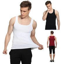Amazing 2015 Newest Men's Sleeveless Vest Exercise Cotton Personal Vest Tops
