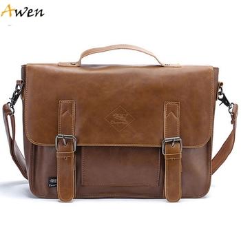 Авен большой размер искусственной восковой искусственная кожа мужчины дорожные сумки, Высокое качество простой дизайн урожай мужской кожаные сумки, Модный кроссбоди мешок