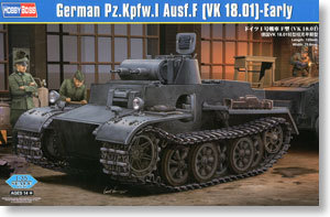Hobby Boss model 83804 1/35 German Pz.kpfw.I Ausf.F (VK18.01)-Early plastic model kit(China (Mainland))