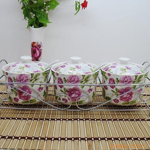 Здесь можно купить  Jingdezhen Ceramic pastoral style boutique full flower wholesale Rose about three-piece hob flavoring manufacturers supply  Еда