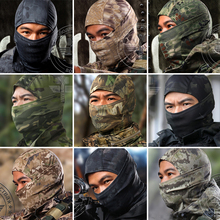 New 9 Color Tight Multicam CP Balaclava Camo Tactical Airsoft Hunting Paintball Motorcycle Ski Cycling Protection Full Face Mask(China (Mainland))