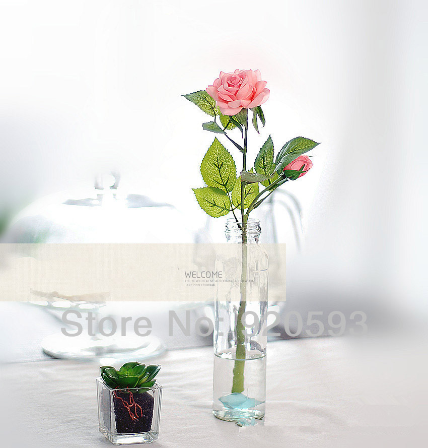 Fresh rose Artificial Flowers Real Touch Home decorations Wedding Party Birthday - X-Colorful Life store