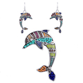 MS1504263Fashion Jewelry Sets Hight Quality Necklace Sets For Women Jewelry Silver Plated Beads Dolphin Unique Design