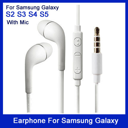 Гаджет  High quality good sound quality Brand New Headphone headset With Volume&Mic Earphone For Samsung Galaxy S2 S3 None Бытовая электроника
