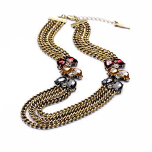 Fashionable Vintage Multi Layers Statement Necklace Charm Jewelry Elegant Dress Jewelry Hot Sales