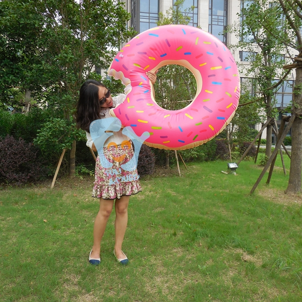 47 Inch 1.2m Pink Inflatable Donut Swimming Rings Summer Pool Floats Water Rafts(China (Mainland))