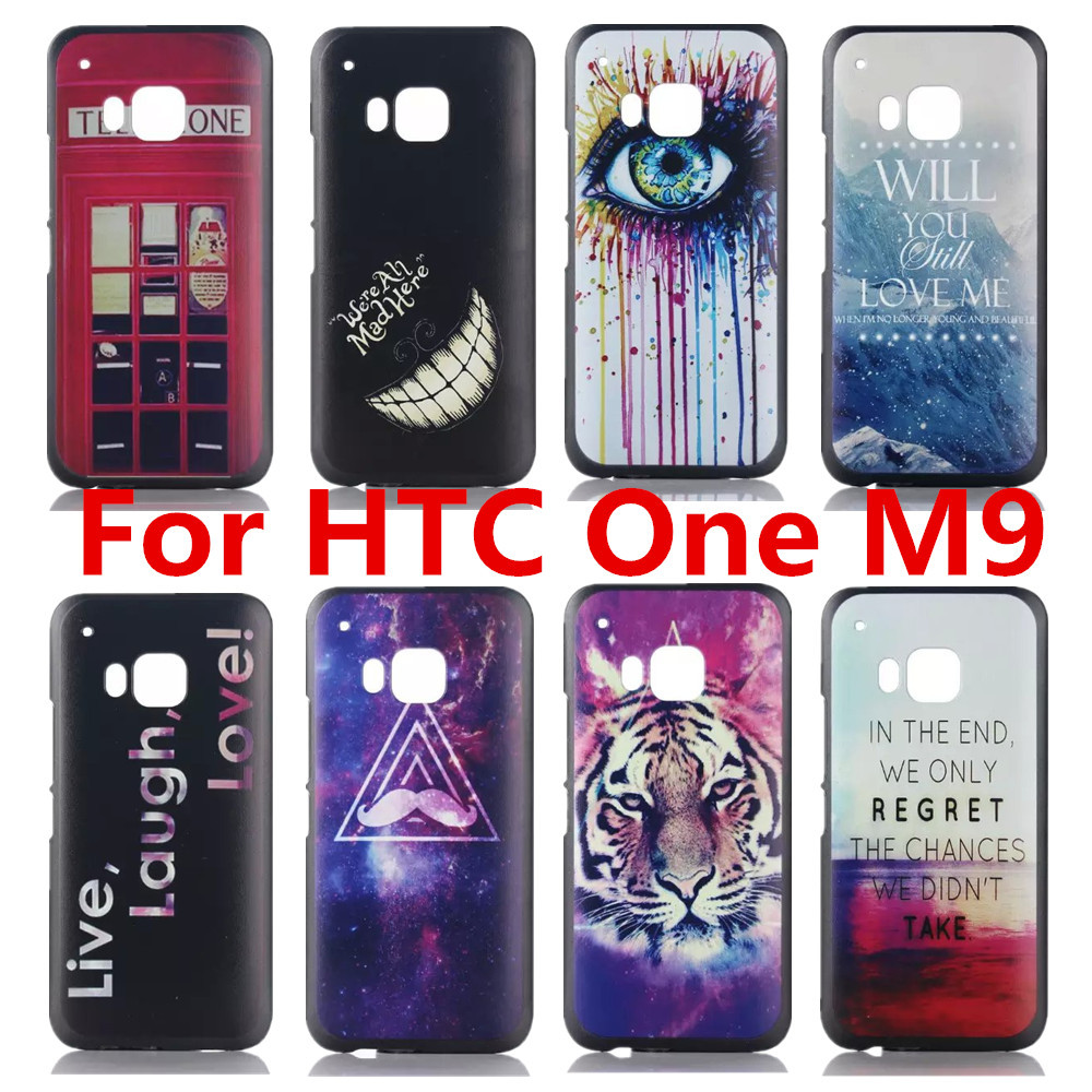Design Pattern Black Side Cover Hard Case Fit HTC One M9 HTCM9 1 piece - Shenzhen CY group co., LTD store