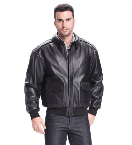 2016 New Men's Genuine Leather Jacket Fat loose big yards ...