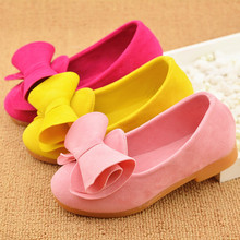 2016 spring new arrival princess shoes girls big bow shoes children comfort single shoes kids flat casual shoes free shipping