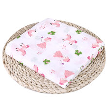 Baby Blanket Puseky Newborn Cotton Fruit Plant Animal Soft Muslin Swaddle Shower Bath Towel Blanket Wrap Cloth Bedding Cover(China)