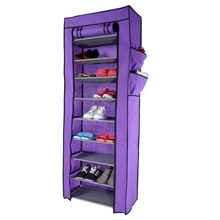 Multi-function Compositional 10 Tier 27 Pair Tower Shoe Rack Nonwoven Dustproof Shoes Home Cabinet Storage Racks(China (Mainland))