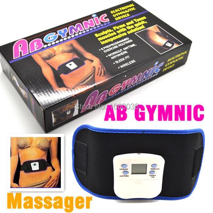 Vibrating slim beauty belt massager AB GYMNIC Electronic Health Body Building back pain relief Massage Belt Free shipping(China (Mainland))