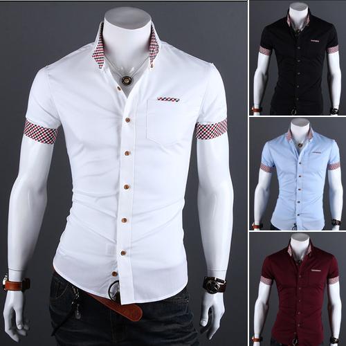 De Color Rojo Y Negro Hombres Camisa De Cuadros - Compra lotes ...