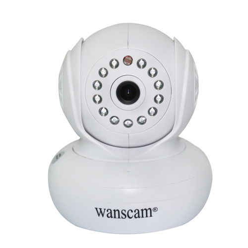 Wanscam MJPEG 3.6 mm RJ-45 25fps Indoor Security Support TF card Wireless Wifi IP Network Camera White(China (Mainland))