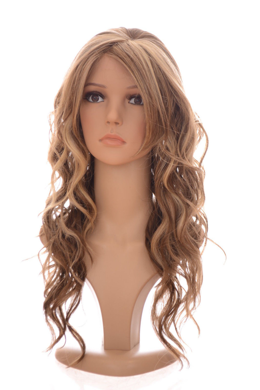Long Multi Tonal Blonde Spiral Curly Lace Front Wig | Sweeping Fringe   Heat Resistant queen Hair wigs<br><br>Aliexpress