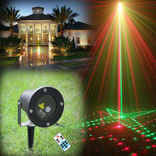 Remote Red Green 20 Patterns Latest Laser Light Outdoor Waterproof Laser Garden Party Projector Landscape decorative Lights Show(China (Mainland))