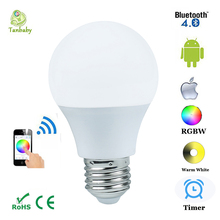 Tanbaby 4.5W E27 RGBW Smart LED light bulb Bluetooth dimmable