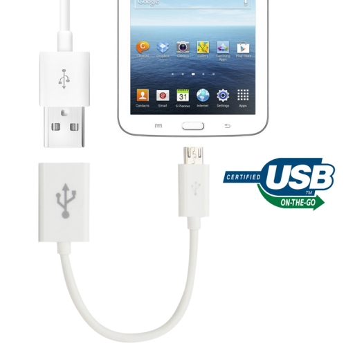 Hot Sale Micro USB OTG Connection Cable for Samsung Galaxy Tab3 P600 Tab Pro T320 T520 i9600 Length15cm Free Shipping(China (Mainland))