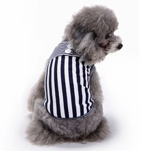 Buy 2017 New Arrival Summer Breathable 100% Cotton Cat Outfit Animal Puppy Vest Shirts Striped Pet Dog Clothes Pets Dogs for $3.23 in AliExpress store