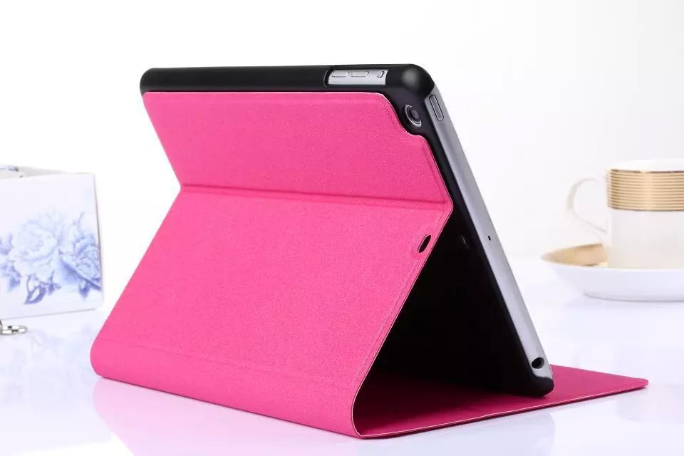 Smart Case For iPad Mini Cover Stand Tablet Designer Gold Sand Grain Leather Cover For iPad mini 2 3 Case 6 Colors Free Shipping(China (Mainland))