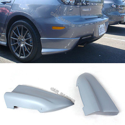 Фотография Rear Bumper Splitters Lip Aprons Cupwings Flaps Fit For Mazda 3 06-10 Unpainted
