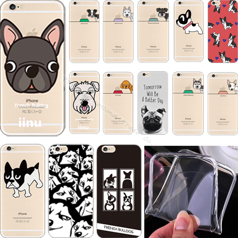 6+/6S+ 5.5'' Top Popular Pattern Kawaii Dog Silicon Phone Cover Case For Apple iPhone 6Plus/6SPlus Cases Shell 2016 Newest Hot !(China (Mainland))