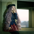 woman sexy 100cm wig cosplay long thick wigs curly taro wig harajuku high quality synthetic ombre