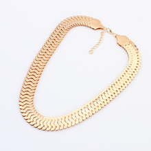 New Brand Women Collar Vintage Charms Statement Choker 18K Gold Silver Chain Punk Necklaces&Pendants Fine Jewelry  A376(China (Mainland))