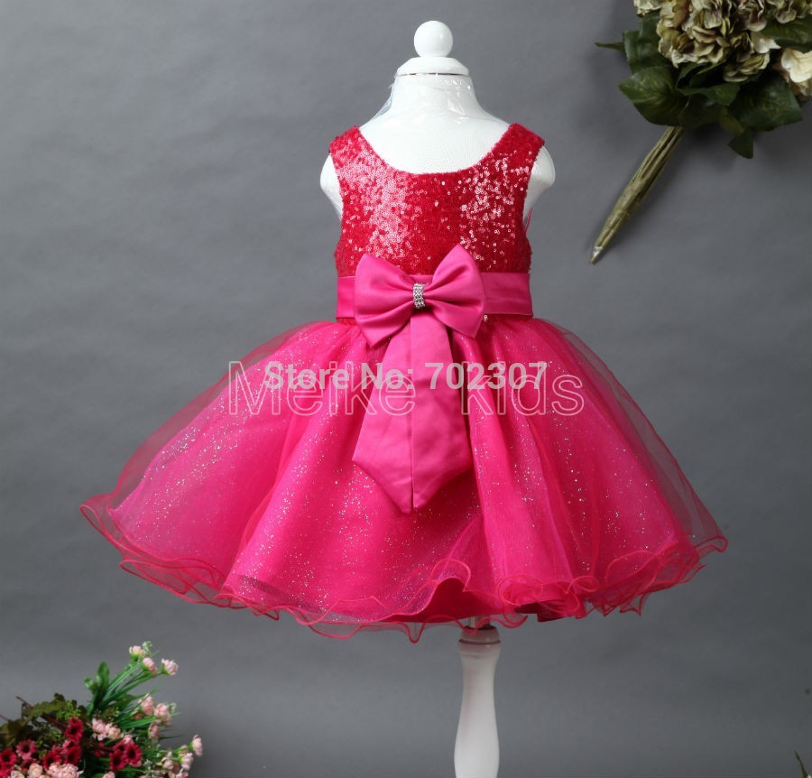wholesale 2014 New girl party dress baby girl sequined bow Evening dress 6pcs\lot free shipping TY-N<br><br>Aliexpress