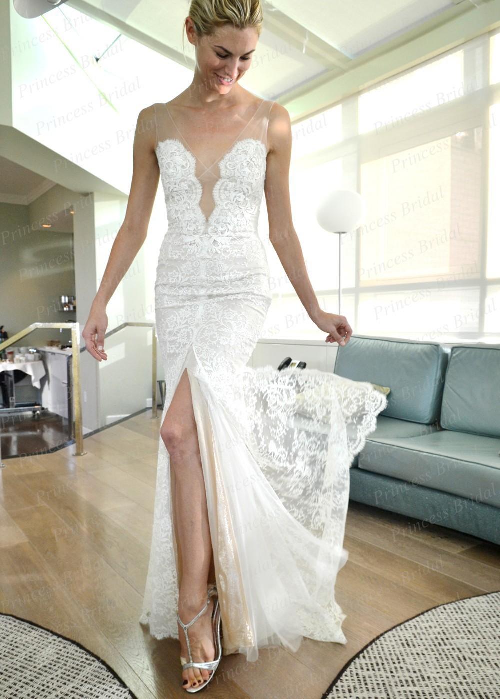 Low Cut Zurück Hochzeitskleid | Fotos