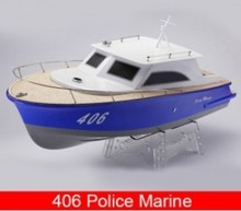 406 Police Marine/ V-shaped Fiberglass Electric Brushless RC Boat with 3650 Motor + 70A ESC(China (Mainland))