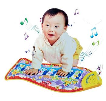 Baby Kid Child Piano Music Fish Animal Mat Touch Kick Play Fun Toy Gift New