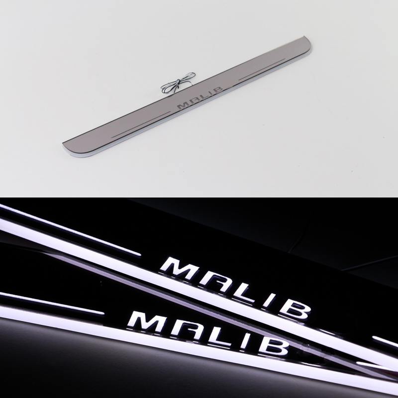 1 pair Car Styling LED Flash Door Sills Moving Scuff Plate Light Panel For Chevrolet Malibu 2010 2011 2012 2013 2014<br><br>Aliexpress