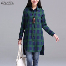 Buy Autumn 2016 Women Blouses Casual Blusas Lapel Neck Buttons Long Sleeve Split Asymmetrical Tops Print Plaid Shirts Hot Sale for $9.99 in AliExpress store