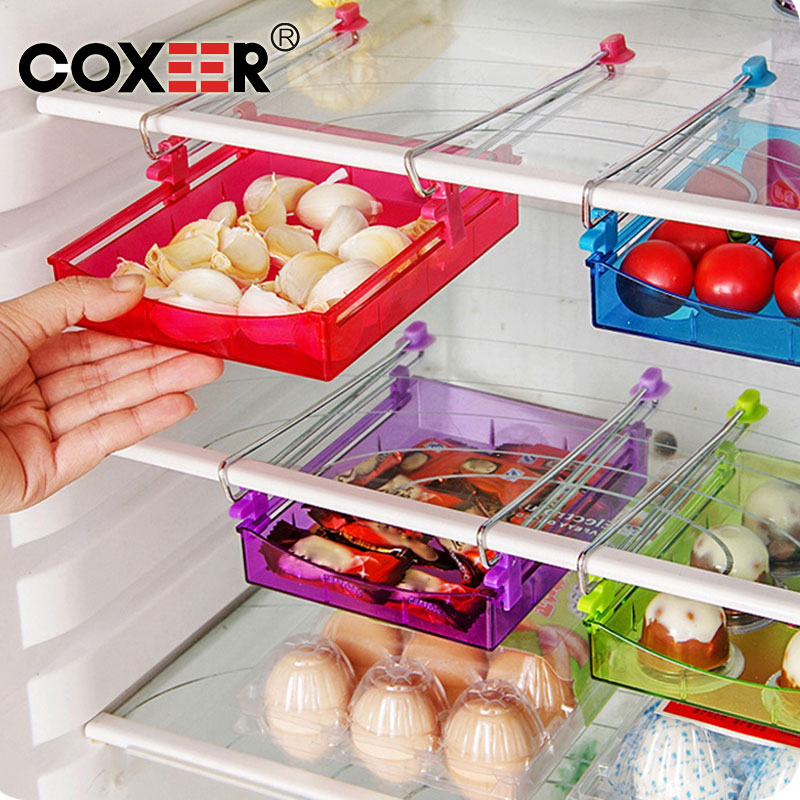COXEER Refrigerator preservation multi-purpose storage rack Refrigerator preservation separator layer Creative storing box(China (Mainland))