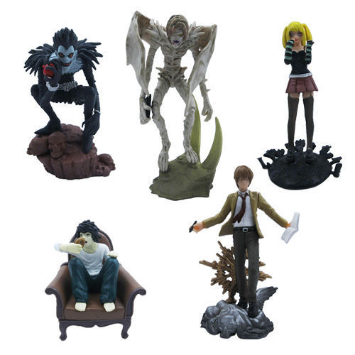 Death Note L Lawliet Misa PVC Figure Set of 5pcs New Free Shipping(China (Mainland))