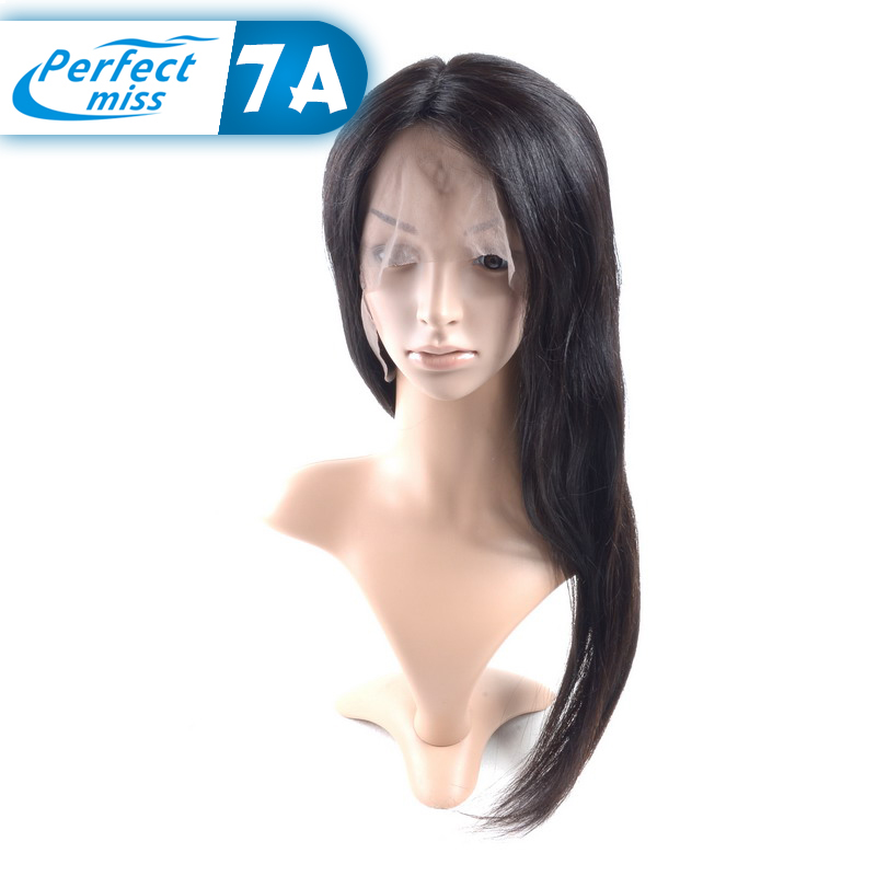 Top Quality full lace human hair wigs for black women Dyeable unprocessed virgin straight brazilian hair brazilian full lace wig(China (Mainland))