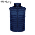 Men Vest Ultra Light Duck Down Jacket Sleeveless Man Waistcoat Plus Size Casual Travel veste sans