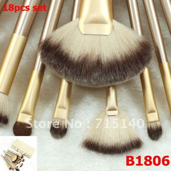 High Quality Makeup Brushes Set 18pcs Nylon Hair Professional Beauty Tools Kit Free Shipping