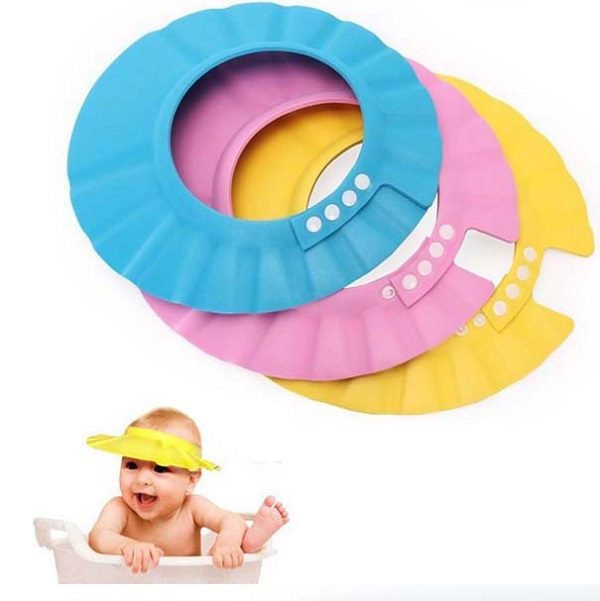 3 Colors Safe Shampoo Shower Bath Protection Soft Caps Baby Hats For Kids 0-2 years 2015 New(China (Mainland))