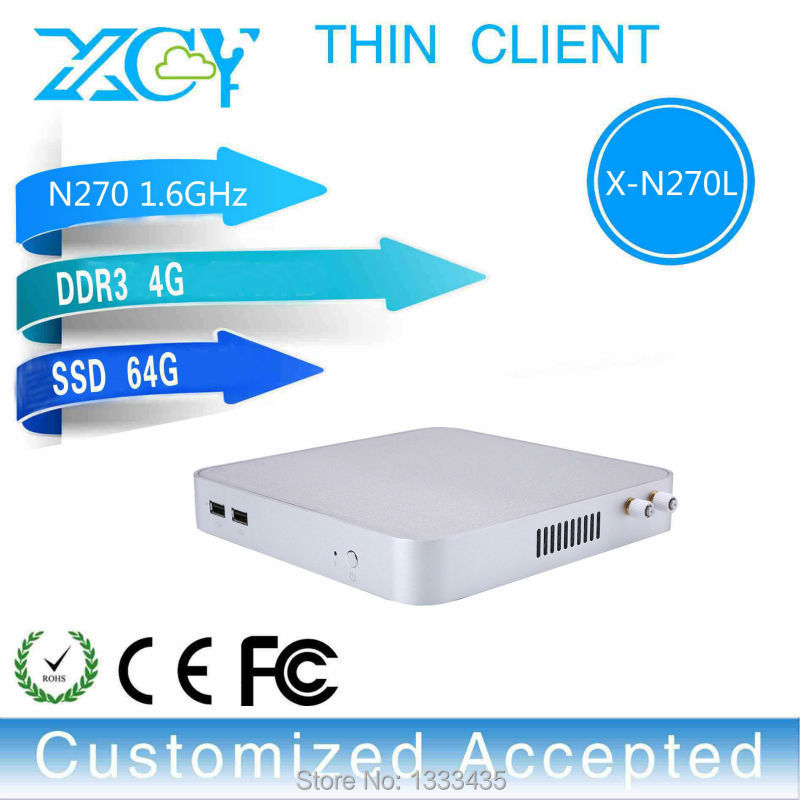 N270 4g Ram 64g Ssd With Hdmi Linux Desktop Pc Industrial Pc Mini Computer Desktop Computer Case Thin Client Mini Pc(China (Mainland))