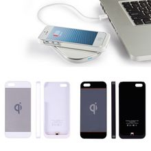 Ultra-thin Qi Wireless Charging Case for Apple for iPhone 5 5S Battery Backup Charger(China (Mainland))