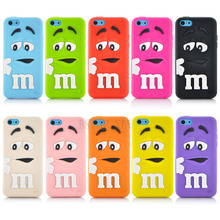 Soft silicone M&M Fragrance Chocolate colorful Rainbow Beans phone case cartoon cover For iphone 5C(China (Mainland))