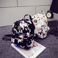 Women Backpack 2016 Hot Sale Fashion Causal Floral Printing Backpacks PU Leather Backpack For Teenagers Girls
