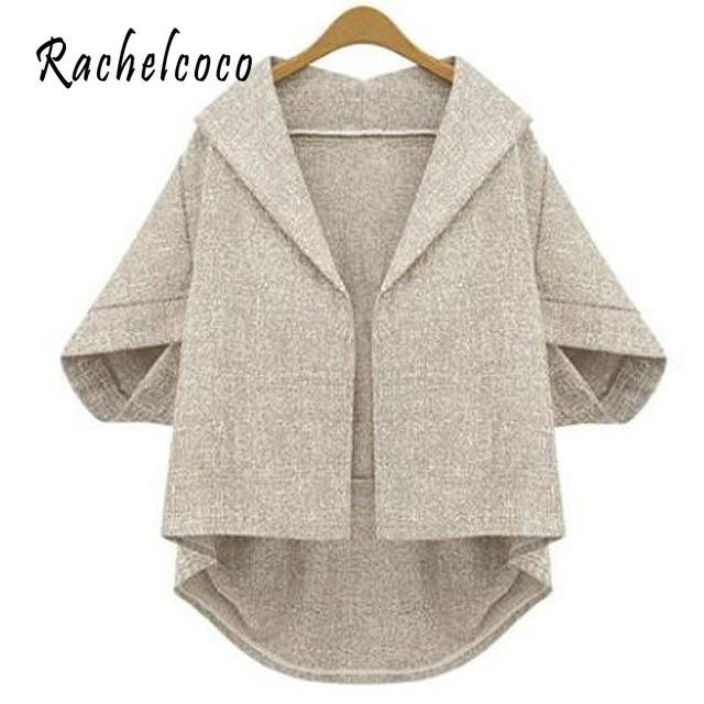 Rachelcoco 2016 новых мужчин открытым стежка пальто половина Batwing рукавом отложным ...