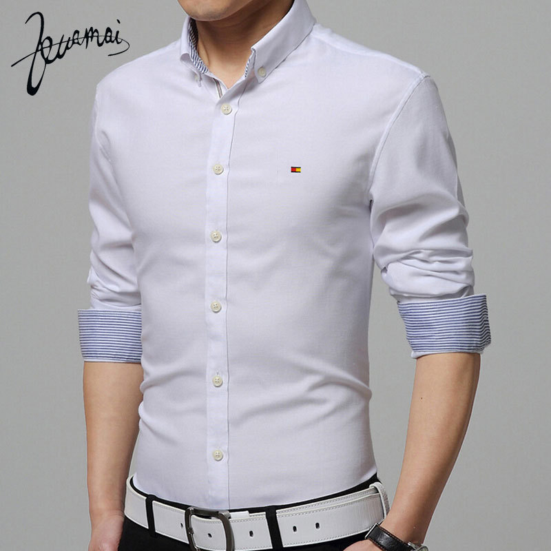 ZM88 2015 New Men'S Long Sleeve Shirt High Quality Cotton Camisa Masculina Casual Oxford Shirt Mens Dress Shirts Factory Outlet(China (Mainland))