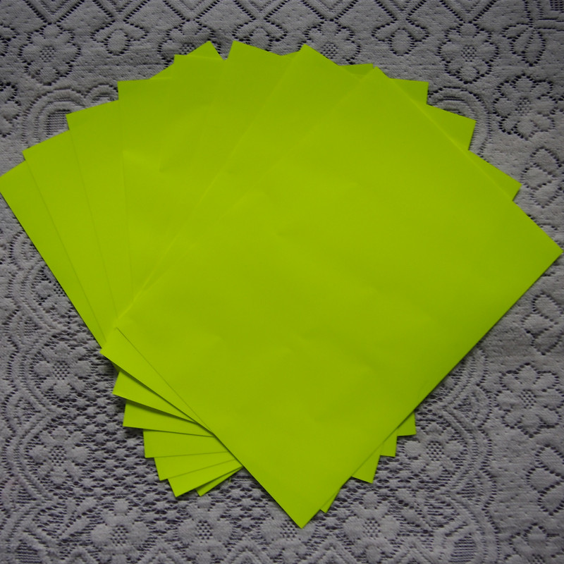 (A4*8 pcs) Neon Yellow Color Heat Press Vinyl High Quality PU Heat Transfer Vinyl Cuttable PU Film for T-shirts W608.(China (Mainland))